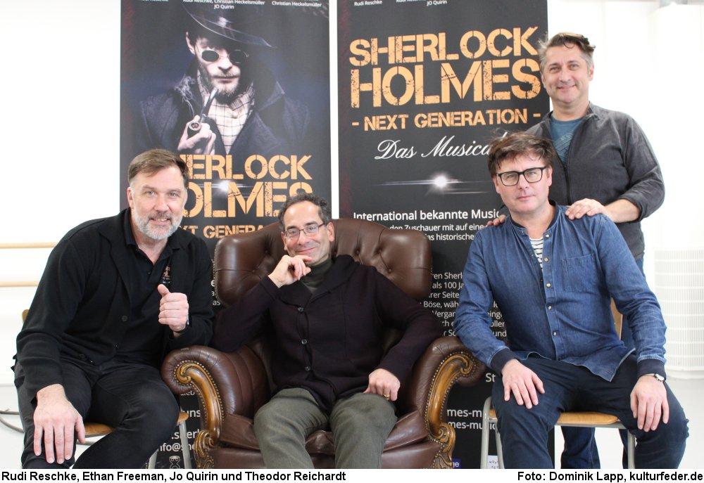 Rudi Reschke, Ethan Freeman, Jo Quirin und Theodor Reichardt. (Foto: Dominik Lapp)